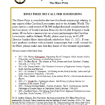 2021 Flyer for Hines Prize